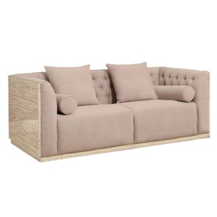 Chauntel Fabric Wood Chesterfield Sofa