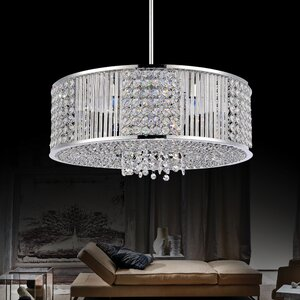 6-Light Drum Chandelier