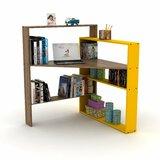 Artell 44.8'' H x 38'' W Corner Bookcase by Latitude Run®