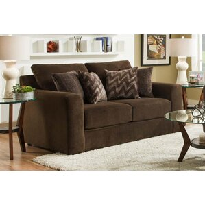 Rockleigh Dynasty Chocolate Loveseat b..