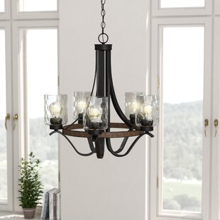 Sabo Indoor 5-Light Shaded Chandelier by Laurel Foundry Modern Farmhouse