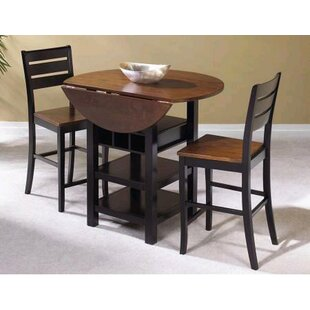 World Menagerie Atwater 3 Piece Counter Height Dining Set