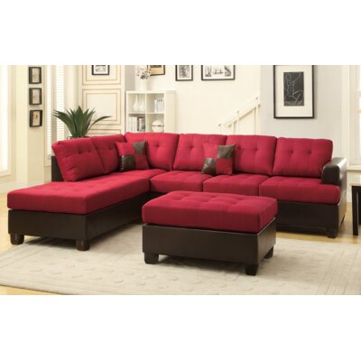 Tremendous Michael Sectional With Ottoman Aj Homes Studio Upholstery Red Spiritservingveterans Wood Chair Design Ideas Spiritservingveteransorg