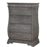 Rosemarie Transitional Wood 5 Drawers Chest by Canora Grey