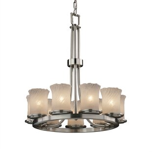 Darby Home Co Devita Ring 9-Light Wagon Wheel Chandelier