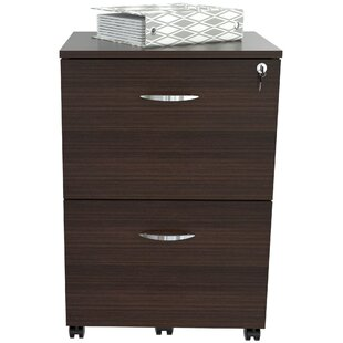 Fraire Engineered Wood 2-Drawer Mobile Vertical Filing Cabinet