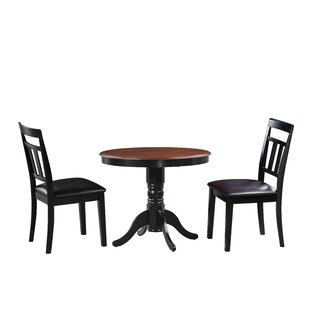 Dahle 3 Piece Solid Wood Dining Set August Grove