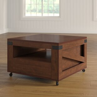 Porcaro Wheel Coffee Table With Storage By August Grove