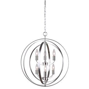 Willa Arlo Interiors Dan 6-Light Globe Chandelier