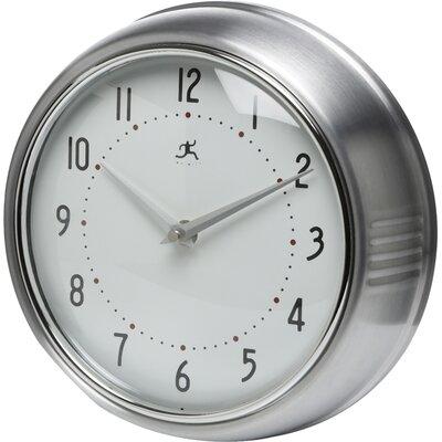 Brayden Studio Maysonet 9.5 Wall Clock Finish: Silver