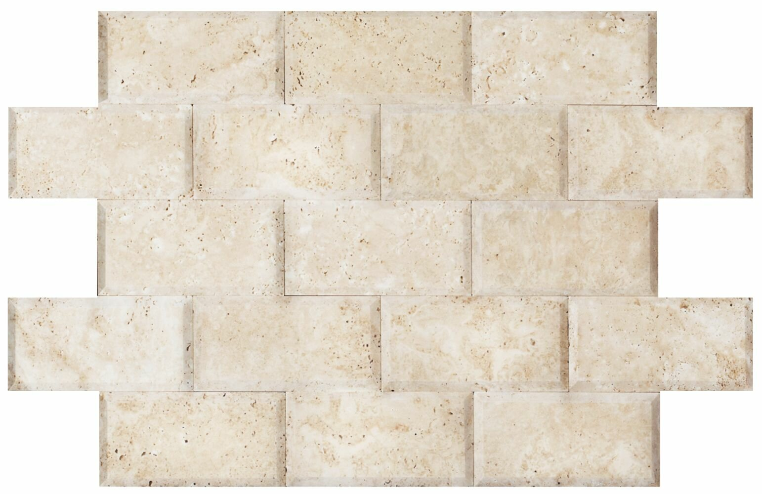 Cordelio 3 X 6 Travertine Mosaic Tile In Ivory Wayfair