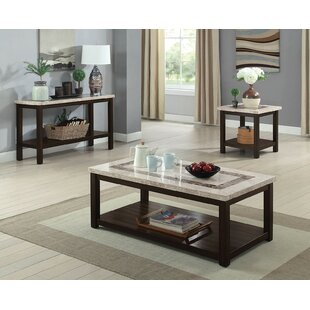 Crewkerne 3 Piece Coffee Table Set