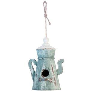 Boston International Teapot Garden 25 in x 6 in x 6 in Birdhouse