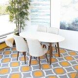 Maja 5 - Piece Eucalyptus Solid Wood Dining Set by Corrigan Studio®