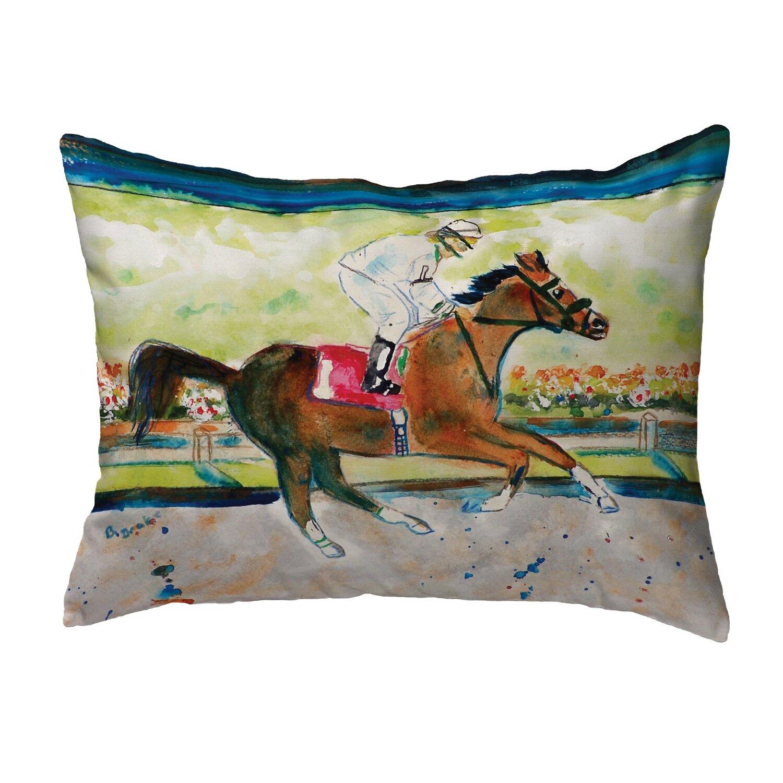 Charlton Home Nyah Racing Horse Indoor Outdoor Lumbar Pillow Wayfair