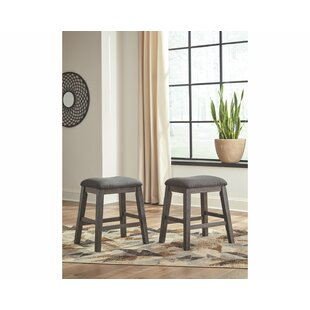 Cavallaro Backless Counter Height 24 Bar Stool (Set of 2) Gracie Oaks