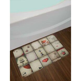 Valentines Vintage Bath Rug