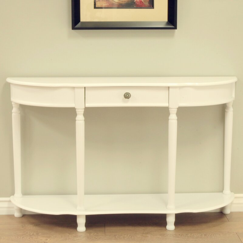 Merveilleux Half Circle Wood Console Table