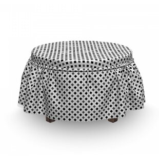 Minimalist Squares Ottoman Slipcover (Set Of 2) By East Urban Home