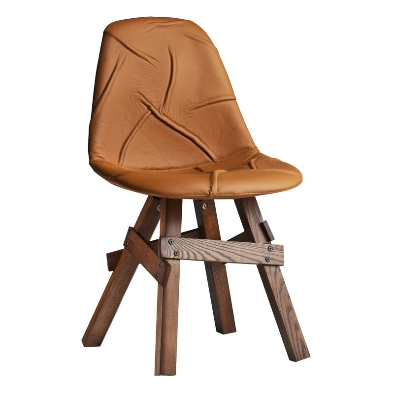 Modern Chairs Usa Pop Genuine Leather Upholstered Dining Chair Perigold