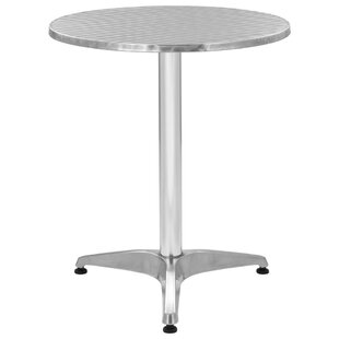 Cantu Stainless Steel And Aluminium Bistro Table By Sol 72 Outdoor