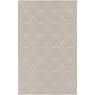 Find for Robin Hand-Woven Taupe/Pale Blue Area Rug ByCharlton Home