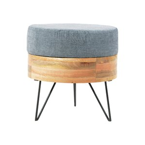 Caitlyn Round Ottoman by Langley Street
