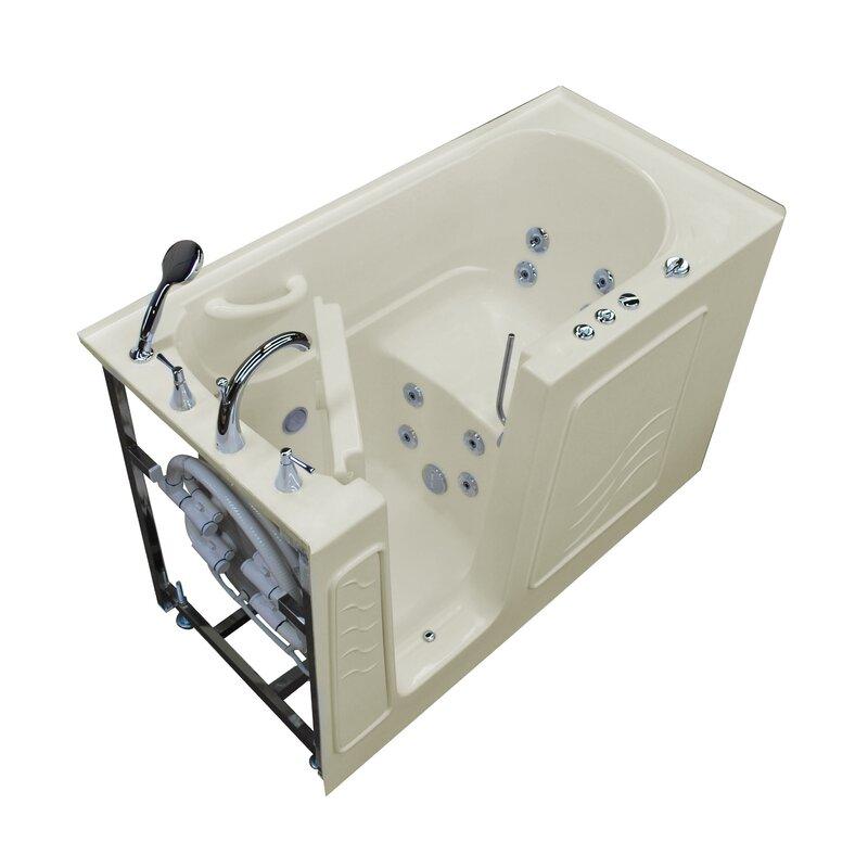 "therapeutic tubs tucson 60"" x 30"" walk-in whirlpool bathtub | wayfair"