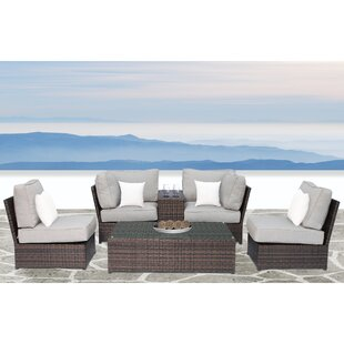 Simmerman 6 Piece Sectional Set With Cushions by Brayden Studio Design