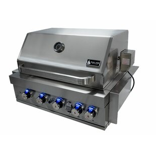 5-Burner Built-In Convertible Gas Grill By Mont Alpi