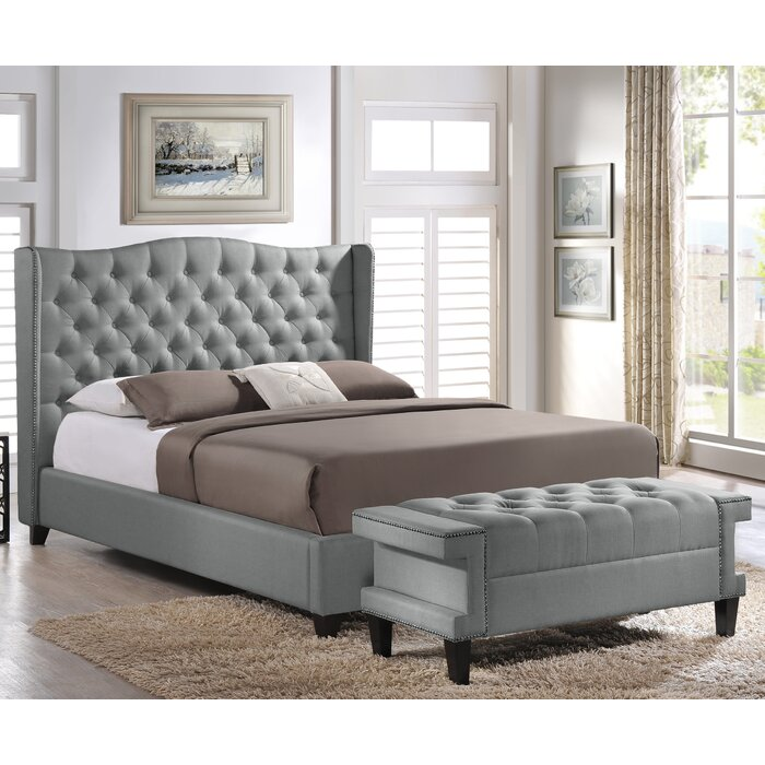 Prime Licata Upholstered Platform Bed And Bench Set Pdpeps Interior Chair Design Pdpepsorg