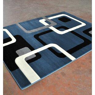 Blue/Black Area Rug ByRug Tycoon