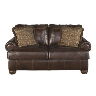 Darby Home Co Bannister Leather Loveseat