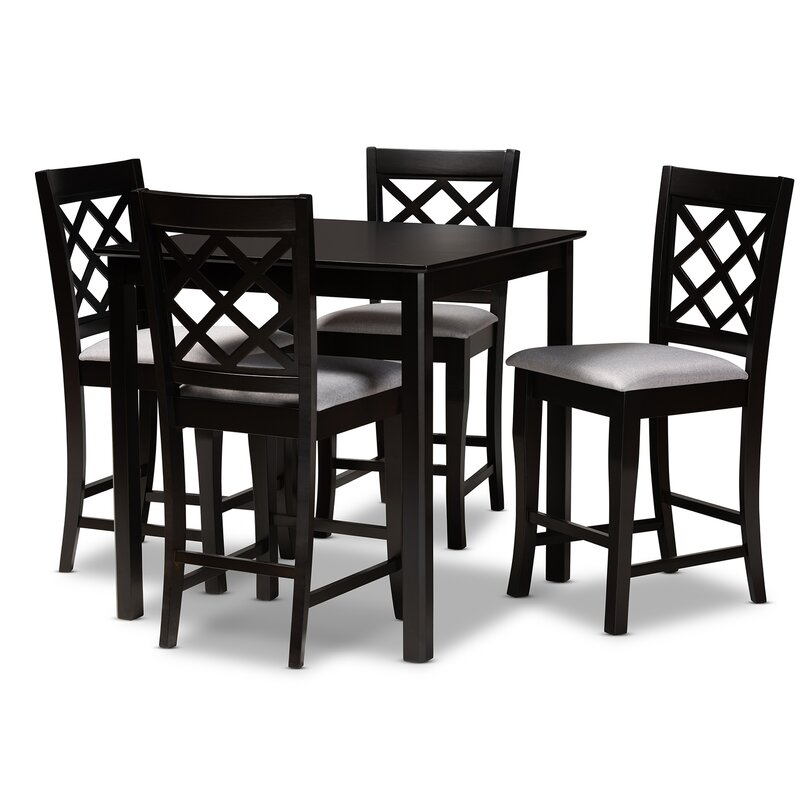 White Cane Outdoor Furniture, Winston Porter Lebeau 5 Piece Counter Height Dining Set Reviews Wayfair
