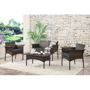 Inge 4 Piece Sofa Set with Cushions