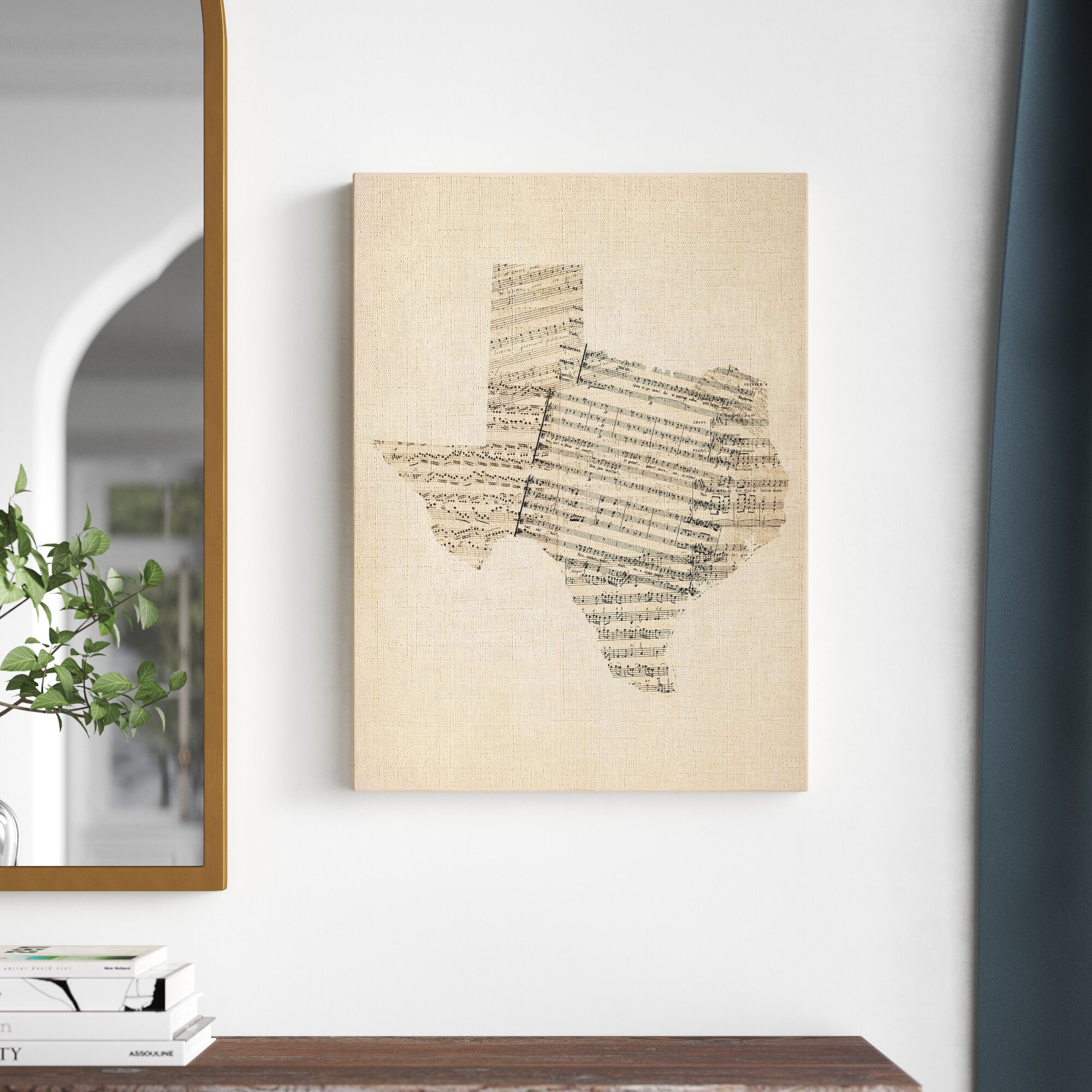Kelly Clarkson Home Old Sheet Music Map Of Texas Wrapped Canvas Graphic Art Print Wayfair