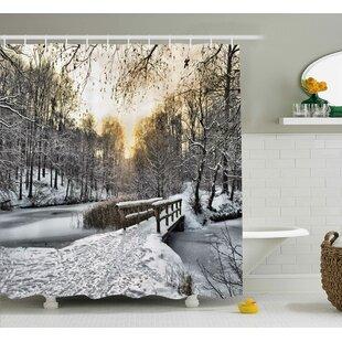 Tyra Winter Christmas Time Shower Curtain ByWinston Porter