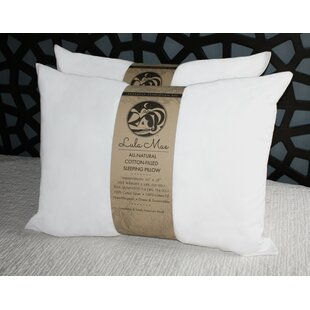Organic Medium Cotton Cooling Bed Pillow (Set of 2)