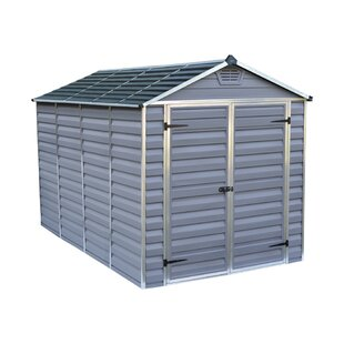 Skylight 6 Ft. W X 10 Ft. D Apex Polycarbonate Shed By Palram