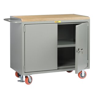 Mobile 54W Butcher Block Top Workbench by Little Giant USA
