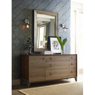 Nouveau Maple 3 Drawer Combo Dresser with Mirror by American Drew