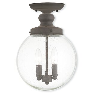 Avalon 2-Light Semi Flush Mount by Gracie Oaks