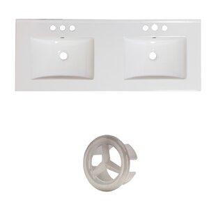 Xena Ceramic 48 Single Bathroom Vanity Top by Royal Purple Bath Kitchen