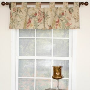 Arielle Patchwork Tab Curtain Valance