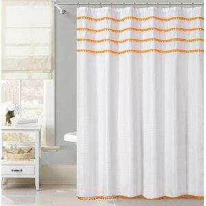 orange and gray shower curtain. Freya Lace Border Shower Curtain Orange Curtains You ll Love  Wayfair