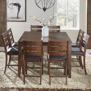 Loon Peak Osborne 9 Piece Solid Wood Dining Set