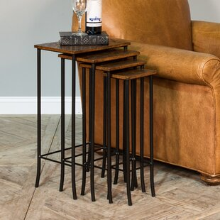 Purchase Tan Leather 4 Piece Nesting Tables By Sarreid Ltd