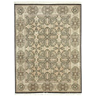 Hand-Knotted Black Area Rug By Eastern Rugs