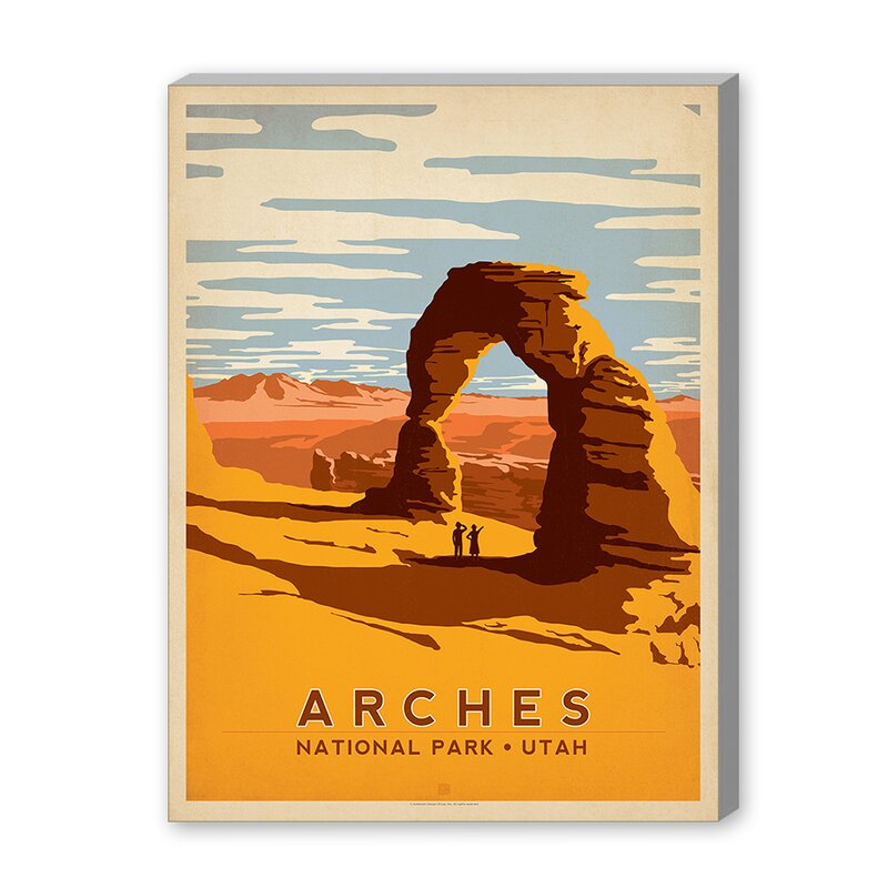 East Urban Home Arches National Park Vintage Advertisement On Gallery Wrapped Canvas By Anderson Design Group Reviews Wayfair