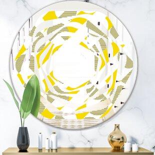 Whirl Geometric II Modern Frameless Wall Mirror